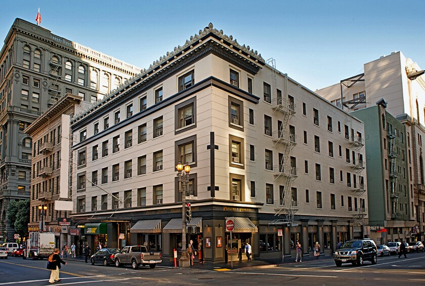 Hotel Abri in San Francisco was built the year after the city's devastating 1906 earthquake.