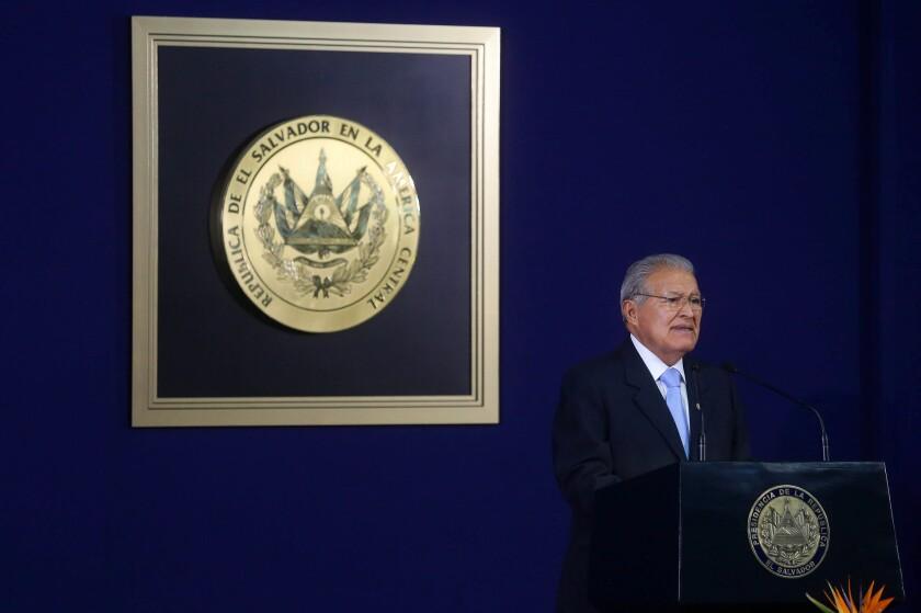 El presidente Salvador Sanchez Ceren. AFP PHOTO / Marvin RECINOS
