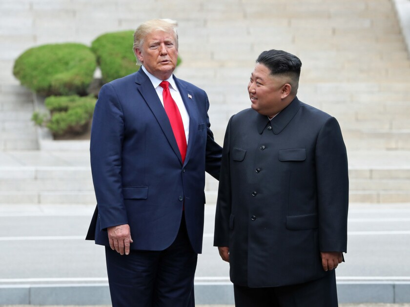 President Trump and Kim Jong Un