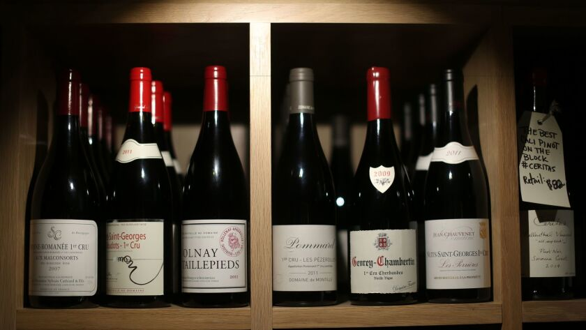 Some of the wines available at Helen's Wines, which sits in the middle of Jon and Vinny's restaurant