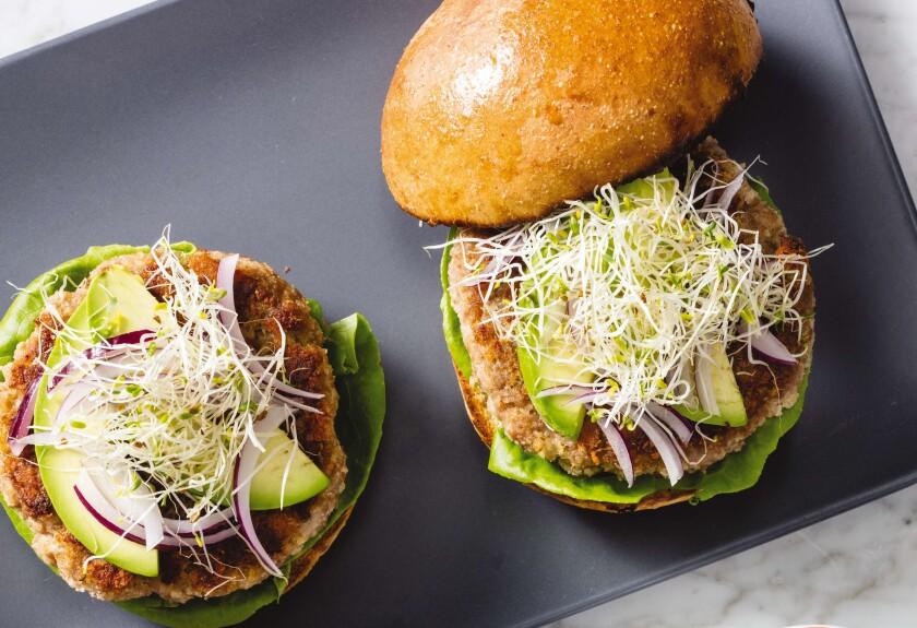Crispy Skillet California Turkey Burgers