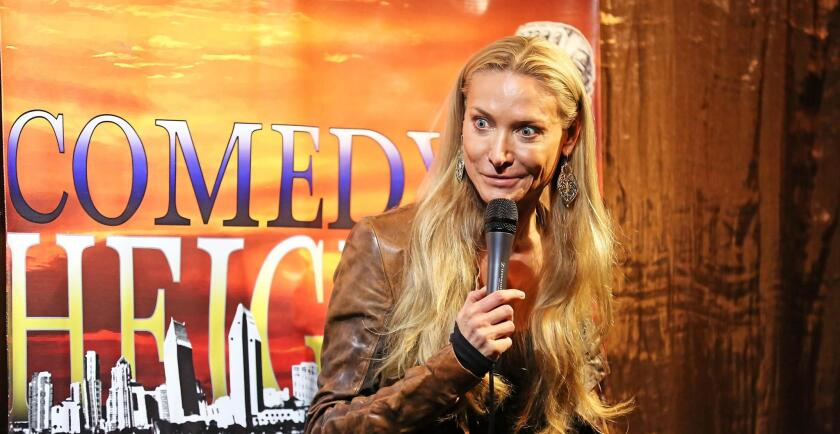 Former Australian-now-Point-Loman Maria Herman is one of the humorists behind Monday Comedy.