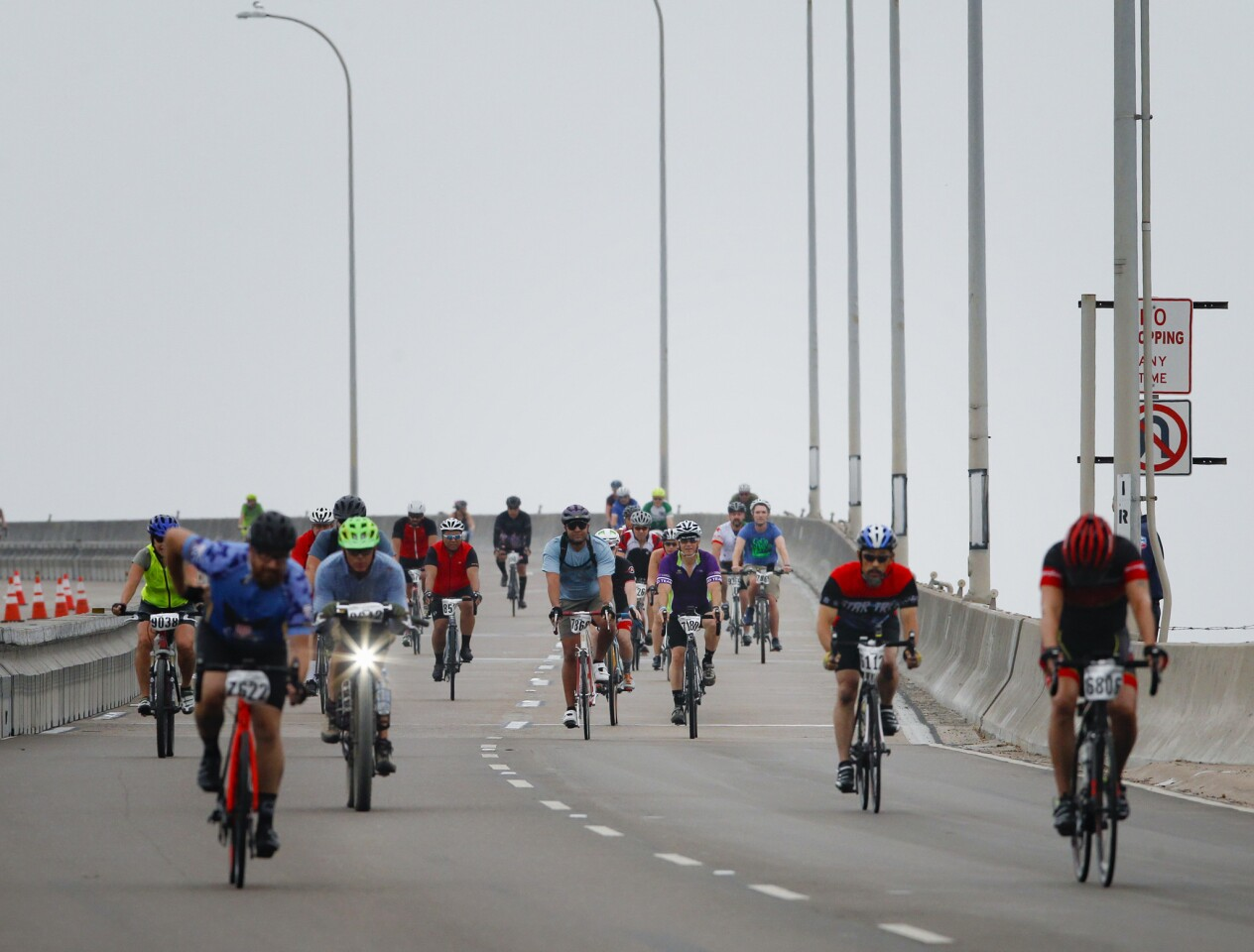 Hundreds of bicycle enthusiast took part in Sunday's Bike the Bay, 25-mile bike ride. The course included a ride over the Coronado Bay Bridge, and through Imperial Beach, Chula Vista, National City and back to Embarcadero Marine Park South in San Diego.