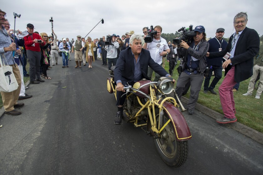 Jay Leno Driving His Garage To Cnbc Los Angeles Times
