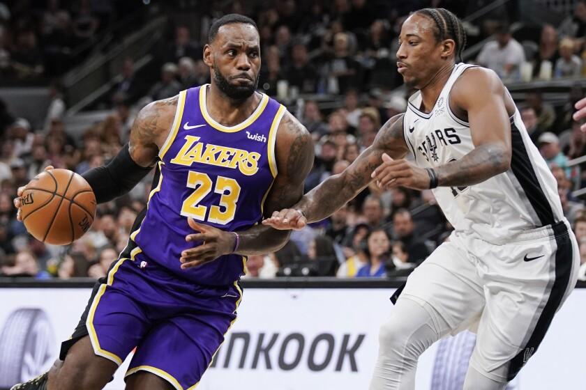 Lakers Spurs Basketball