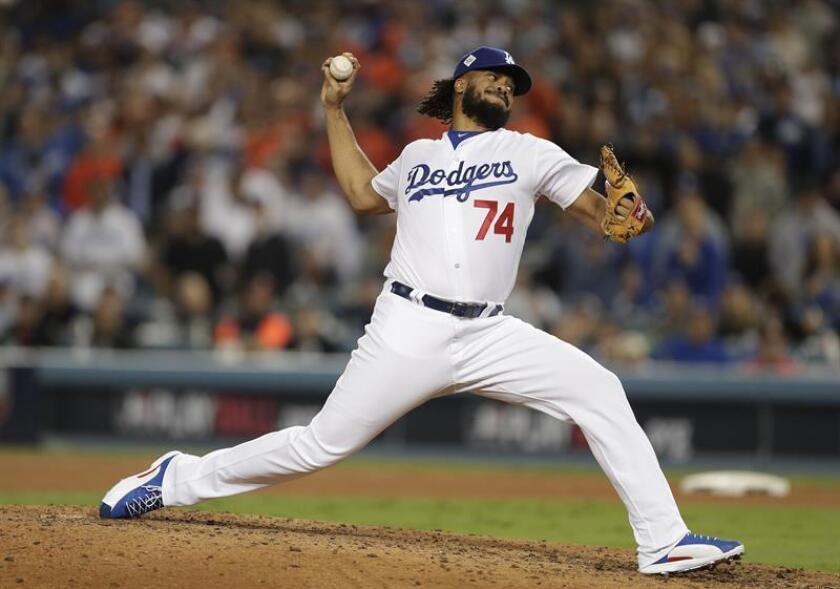Kenley Jansen, cerrador estelar de los Dodgers de Los Angeles. EFE/Archivo