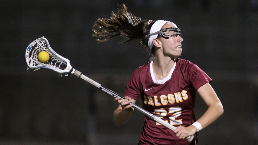 Torrey Pines' Taylor Scornavacco helped push the Falcons to a 23-0 record.