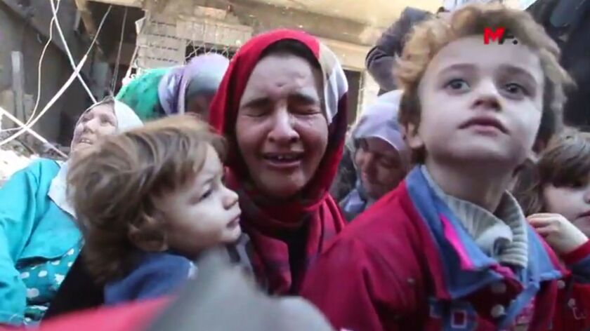 This frame grab from a video provided on Friday, Oct. 13, 2017 by Turkey-based Kurdish Mezopotamya a