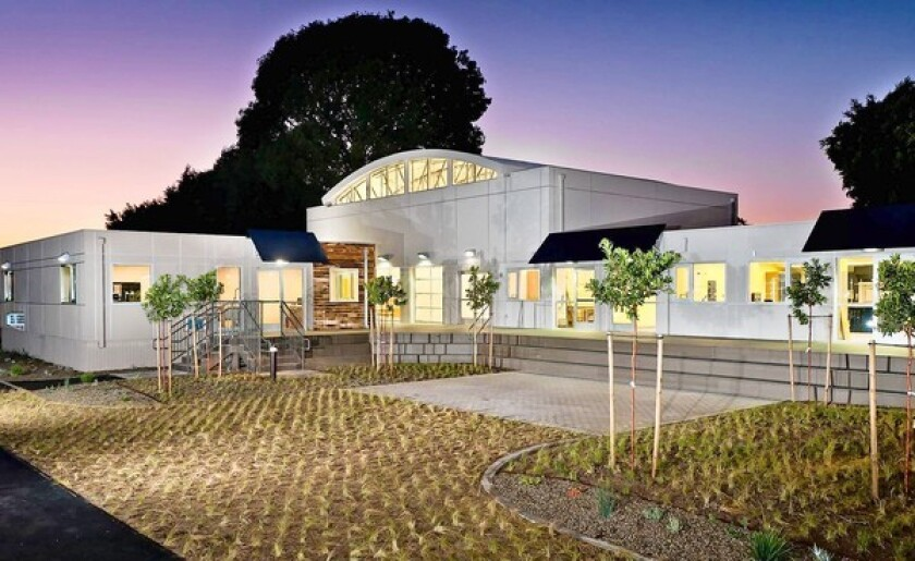 Waldorf School of Orange County campus, a school made from recycled shipping containers.