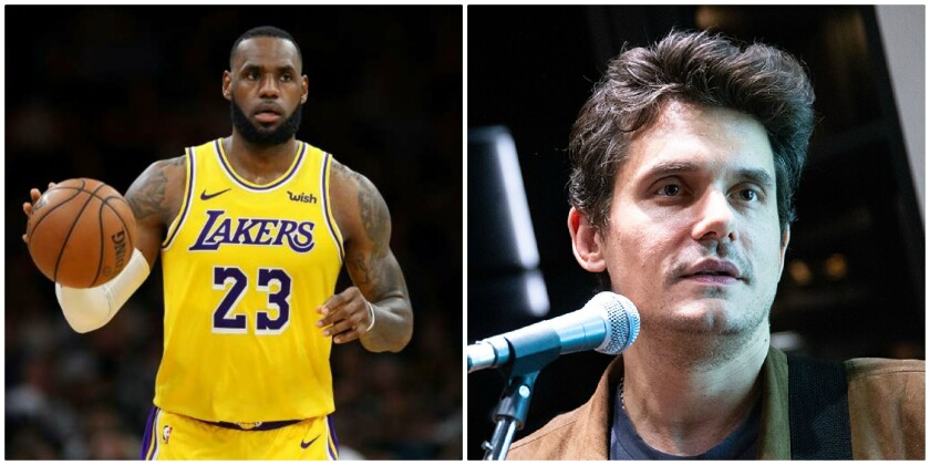 Both LeBron James, left, and John Mayer have praised the Calm app.