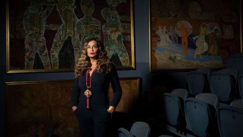 LOS ANGELES, CALIF. - MAY 22: Tina Knowles poses for a portrait at WACO Theater on Wednesday, May 22