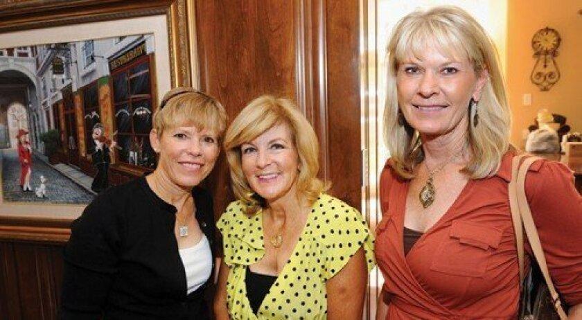 Franci Free, host Linda Hale, Karen Sullivan (Photo: Jon Clark)