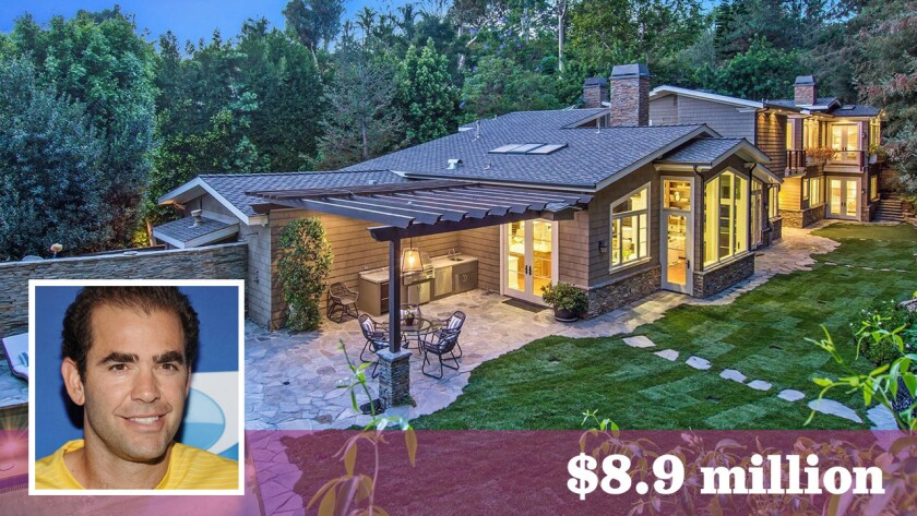 Pete Sampras and his wife, singer-actress Bridgette Wilson-Sampras, bought the gated home new in 2009 for $5.9 million and renovated and expanded it.