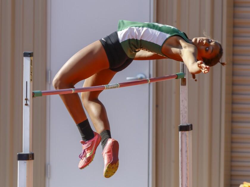 Coronado senior Alysah Hickey is the San Diego Section leader in the high jump.