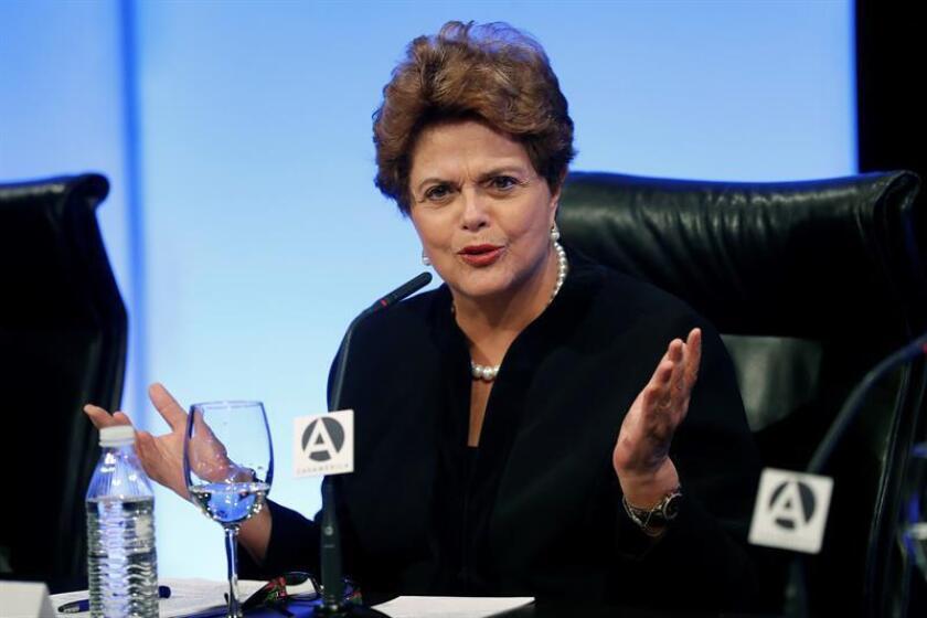 En la imagen, la expresidenta de Brasil Dilma Rousseff. EFE/Archivo