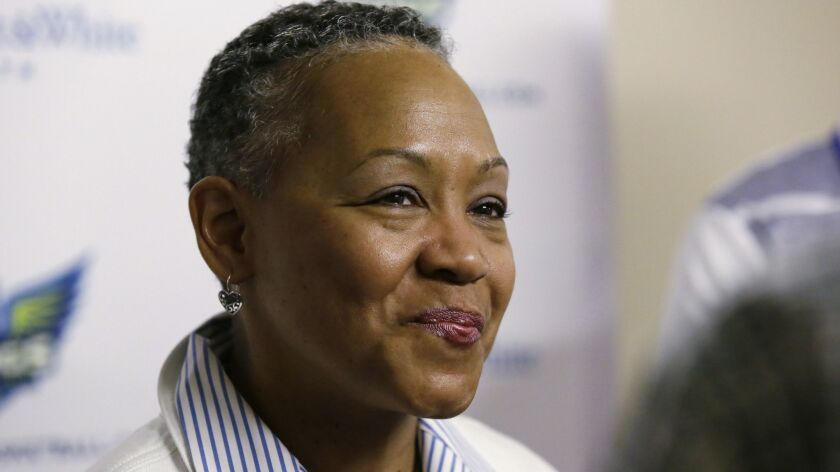 Lisa Borders, seen here in 2016, is the new CEO and president of Time's Up.
