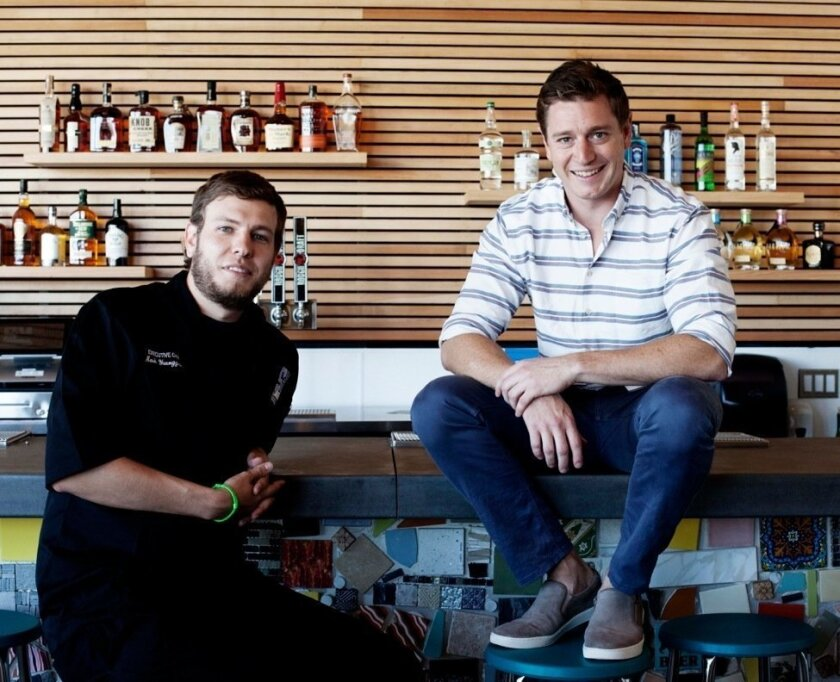 Chef Mark Younggren (left) and Scott Slater of the new S&M Sausage and Meat.
