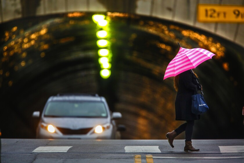 Several winter storms are expected dump up to 6 inches of rain in and around Los Angeles this week.