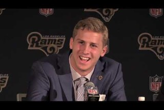 Rams No. 1 pick Jared Goff is introduced in Los Angeles