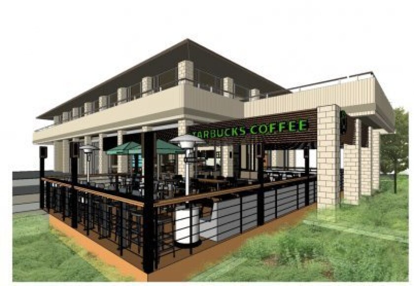Artist rendering of a patio Starbucks plans to add to its location on Torrey Pines Road near Girard Avenue. Courtesy