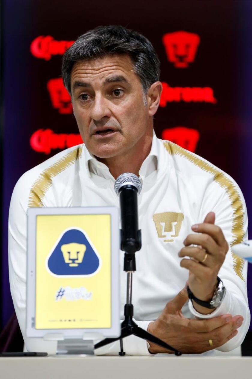 El español Michel González habla en una conferencia de prensa en Ciudad de México (México). EFE/José Méndez/Archivo