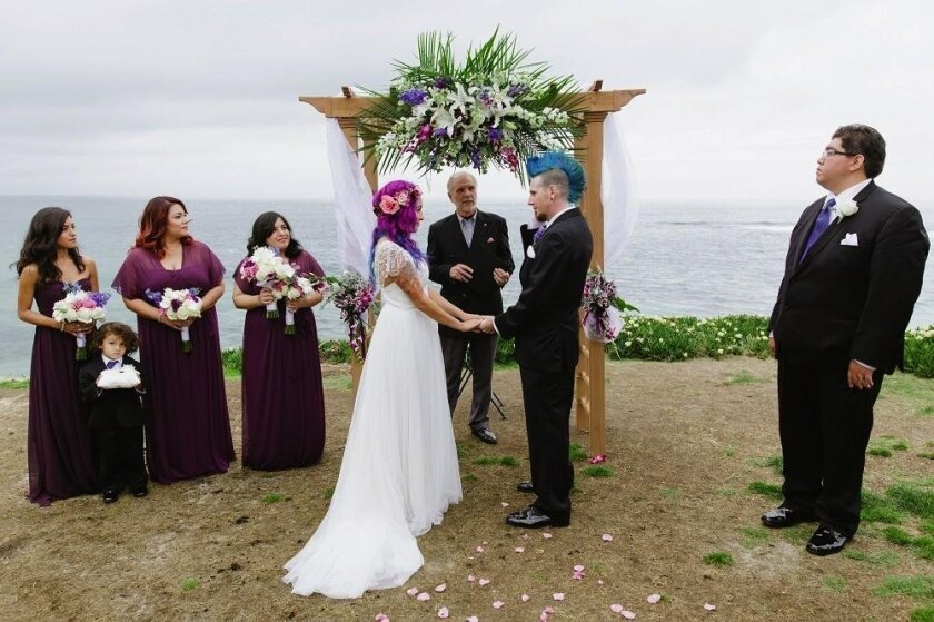 This photo was taken April 9, 2016. The Smiths booked their wedding ceremony at Cuvier Park and when they arrived for their rehearsal one day prior from Chicago, they complained to wedding organizer Jacquelyn Mendoza about the dirt and missing grass.