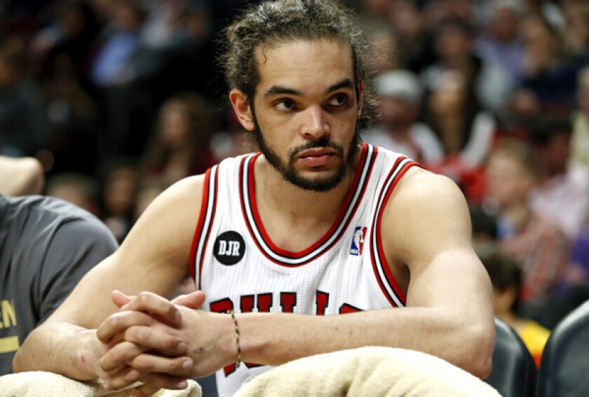 Chicago Bulls center Joakim Noah averaged 12.6 points, 11.3 rebounds and 5.4 assists a game this season.