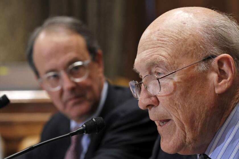 Erskine Bowles, left, and Alan Simpson.