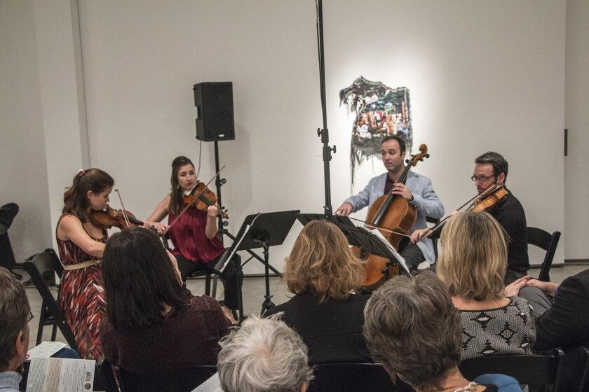 The Art of Élan String Quartet: Anna Skálová and Kate Hatmaker (violins), Alex Greenbaum (cello) and Travis Maril (viola)