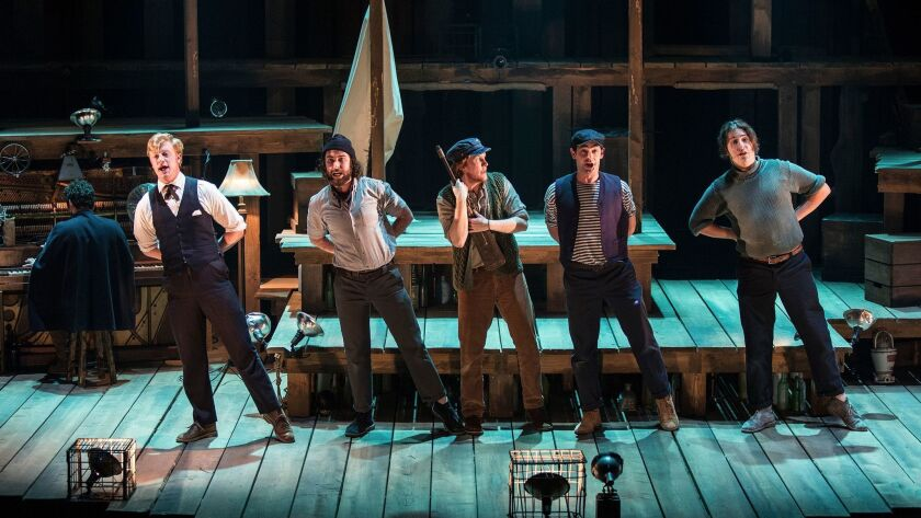 The cast of PigPen Theatre Co.'s The Old Man and The Old Moon. Directed by Stuart Carden and PigPe