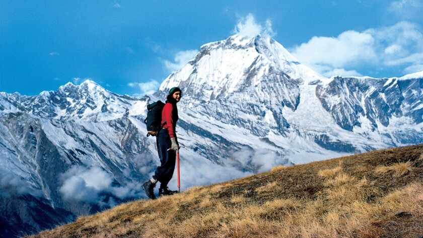 Arlene Blum on a reconnaissance of Annapurna I in Nepal the year before she led the first U.S. climbing expedition aiming for the summit of the 26,200-foot peak.