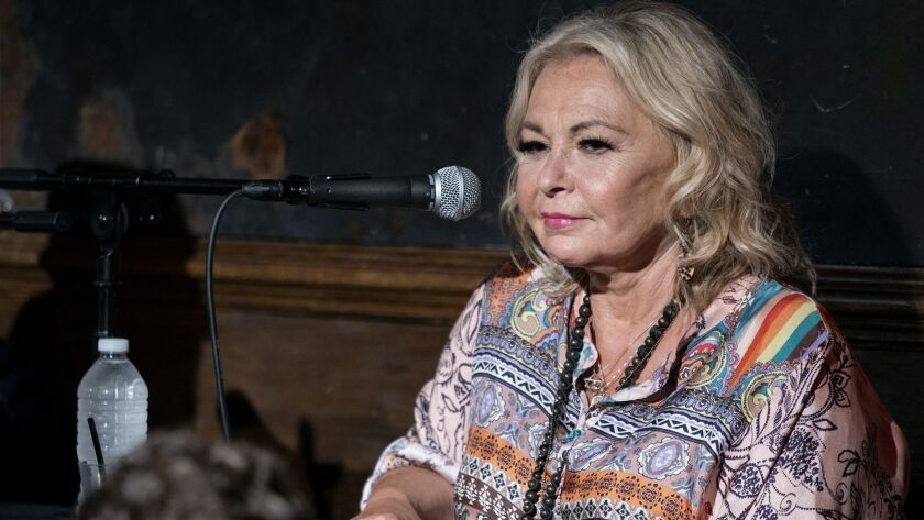 Roseanne Barr takes part in a special event and podcast taping at Stand Up NY, Thursday, July 26, 20