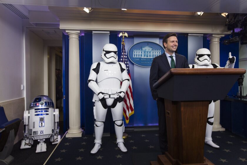 'Star Wars' characters at the White House