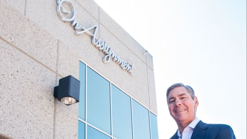 Peter Dameris is chief executive of On Assignment, a Calabasas company that provides short- and long-term employees to companies in several fields.