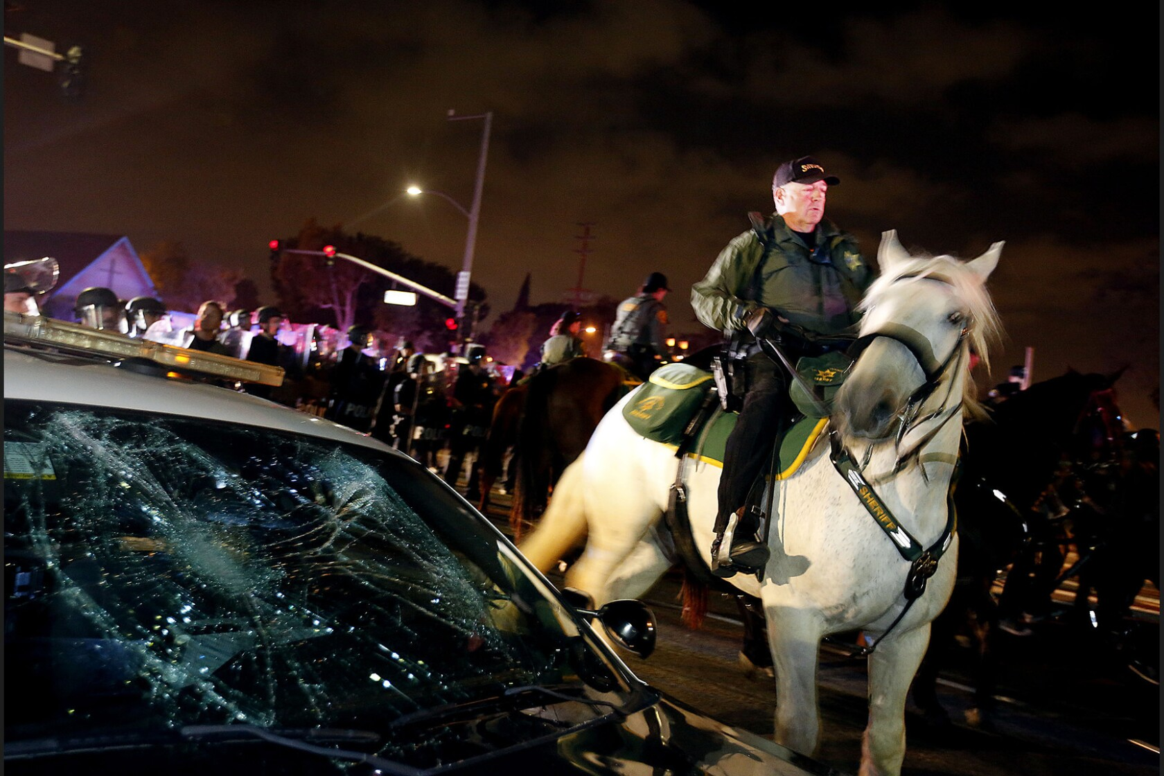 2 teens arrested in vandalism of Costa Mesa police cars