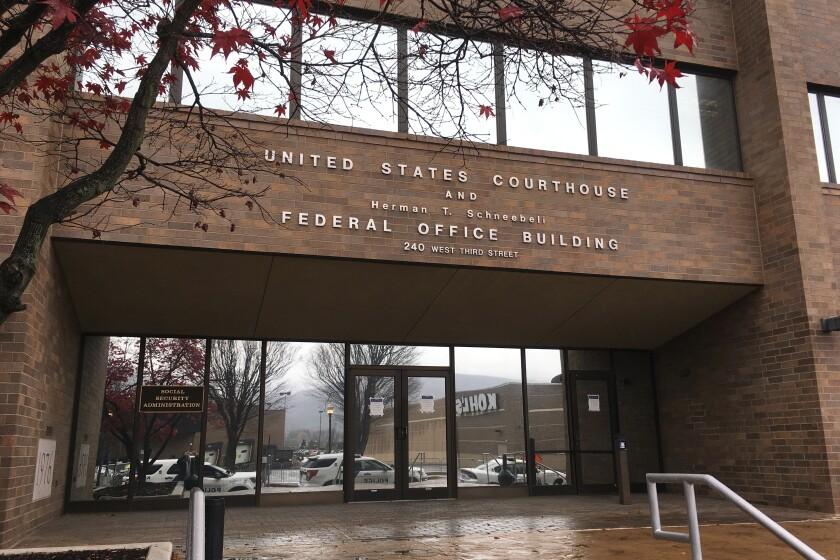 El edificio de juzgados federales en Williamsport, Pensilvania, es visto en esta imagen