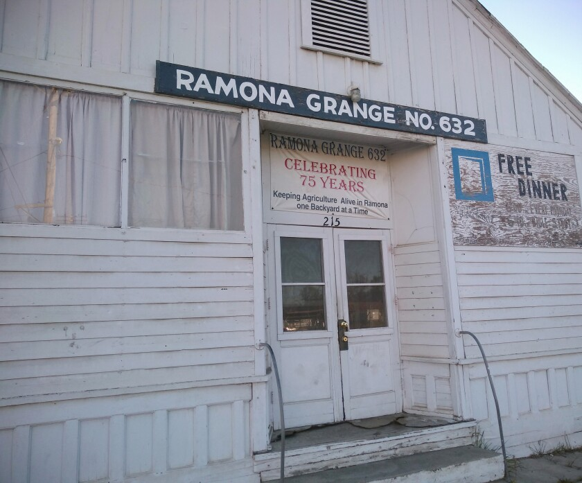 Open Door Free Dinner for All offers takeout food at 6 p.m. Mondays at Ramona Grange No. 632, 712 Seventh St.
