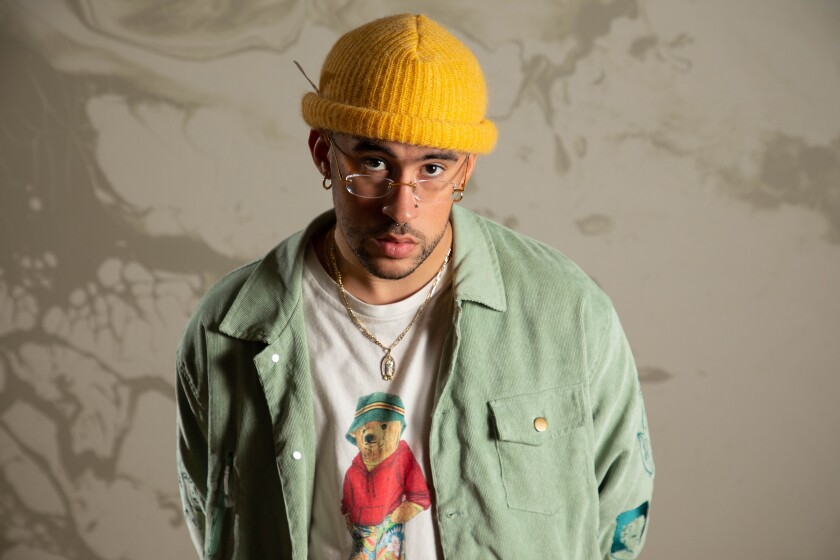 El cantante puertorriqueño de trap Benito Antonio Martínez Ocasio, mejor conocido como Bad Bunny.