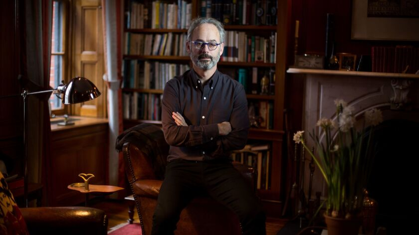 Author Amor Towles at home in New York City.