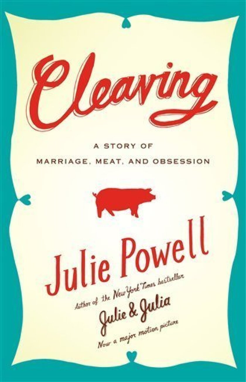 "In this book cover image released by Little, Brown and Co., Julie Powell's ""Cleaving: A Story of Marriage, Meat and Obsession"" is shown. (AP Photo/Little, Brown and Co.)"