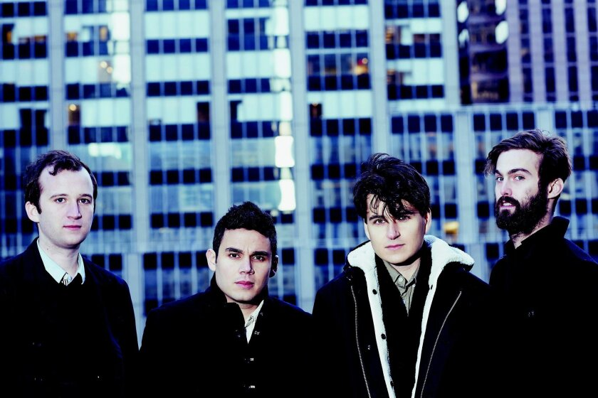 (left to right) Chris Baio, Rostam Batmanglij, Ezra Koenig, Chris Tomson make up Vampire Weekend. PHOTO BY ALEX JOHN BECK