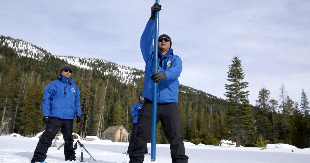 März Stürme waren nicht genug, um boost in Kalifornien schneedecke, sagen die Beamten