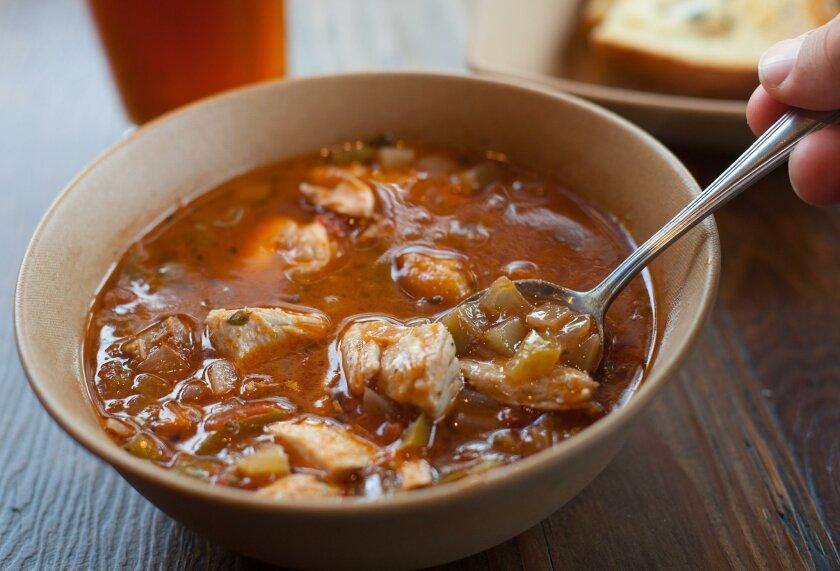 Seafood stew from Encinitas Fish Shop.