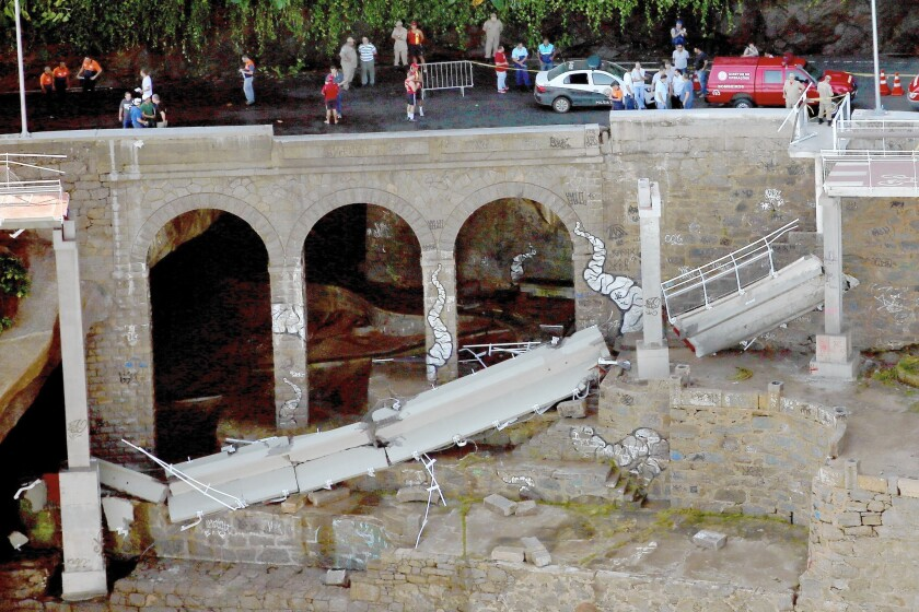 Brazil bike path collapse