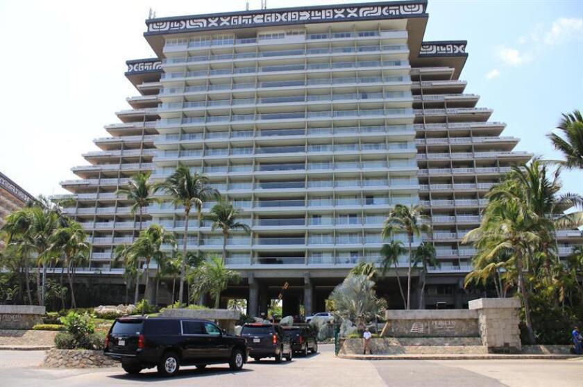 Vista general del hotel Princes hoy, miércoles 7 de marzo de 2018, donde la banca de México celebrará a partir de mañana jueves, su 81 reunión anual, en Acapulco (México). EFE