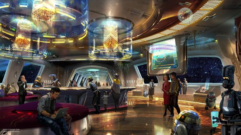 "An artist's rendering of the ""Star Wars"" resort planned for Walt Disney World."
