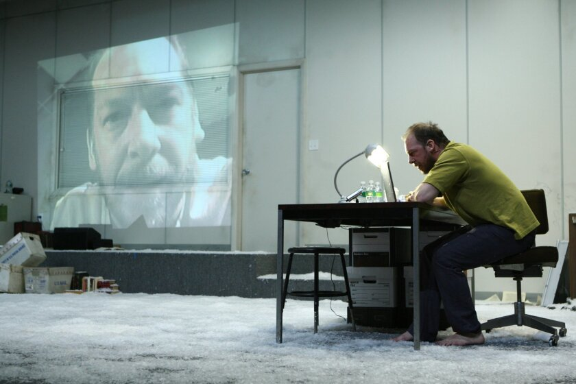 """Bill Camp in La Jolla Playhouse's production of """"Notes From Underground."""""""