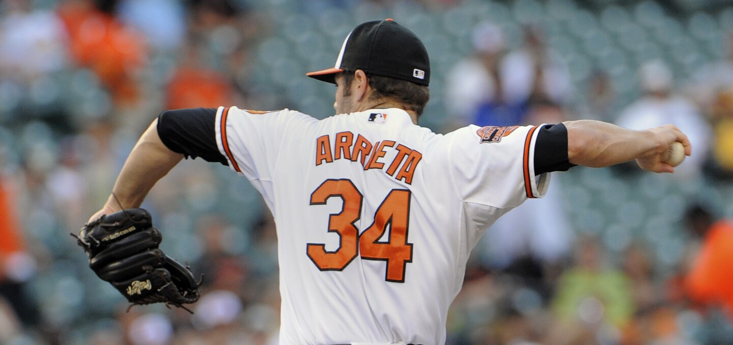 When the only losing performance by a starting pitcher still got the club into the sixth inning with a chance to win the game, it's safe to say that the Orioles rotation had a pretty good week. Orioles starters were 5-1 with a 3.07 ERA -- and that ERA was inflated by five garbage-time runs after the Orioles took a 10-run lead Thursday night. We'll find out tonight if Jake Arrieta has really figured things out, but it's hard to find much fault after back-to-back shutouts in Atlanta. Grade: A-