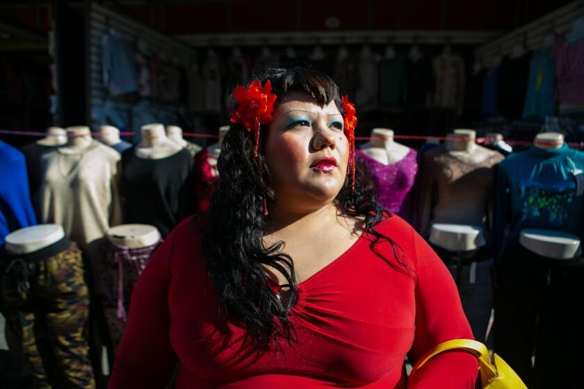 Gabriela Ruiz at the Plaza del Valle Market in Panorama City.