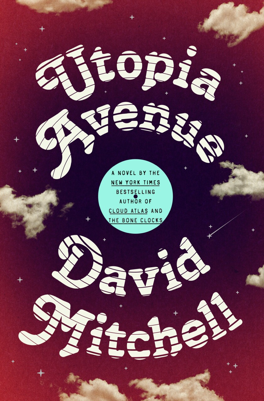 """A book jacket for David Mitchell's """"Utopia Avenue."""""""